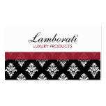 Elegant Damask Floral Pattern Modern Stylish Business Card Template