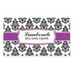 Elegant Damask Floral Pattern Stylist Salon Business Card