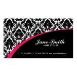 Elegant Damask Floral Retro Professional Stylish Business Card Template