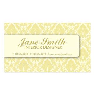 Elegant Damask Floral Retro Professional Stylish Business Card Templates