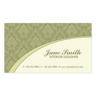 Elegant Damask Floral Retro Professional Stylish Business Card