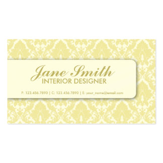 Elegant Damask Floral Retro Professional Stylish Double-Sided Standard Business Cards (Pack Of 100)