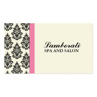 Elegant Damask Floral Stylist Salon Hairdresser Double-Sided Standard Business Cards (Pack Of 100)