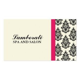 Elegant Damask Floral Wedding Planner Stylist Business Card