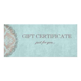 Elegant Damask Gift Certificate Vintage Style Full Color Rack Card