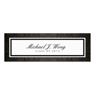 Elegant Damask Graduation Announcement Name Cards Business Cards