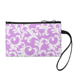 Elegant Damask in Mixed Berry Smoothie  Coin Wallet