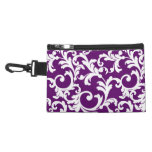Elegant Damask in Purple Passion Accessories Bags
