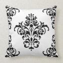 Elegant Damask Jumbo Throw Pillow