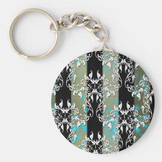 Elegant Damask Keychain