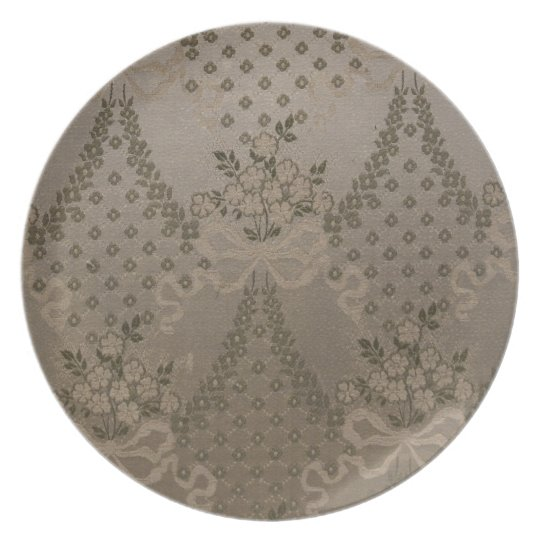 Elegant Damask Melamine Plate