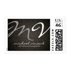 Elegant Damask Monogram Postage Stamps stamp
