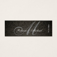 Elegant Damask Monogram Wedding Favor Tags at Zazzle