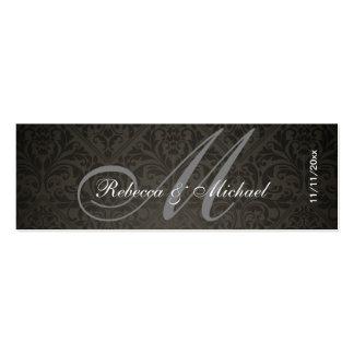 Elegant Damask Monogram Wedding Favor Tags Business Card Templates
