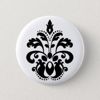 Elegant damask motif button