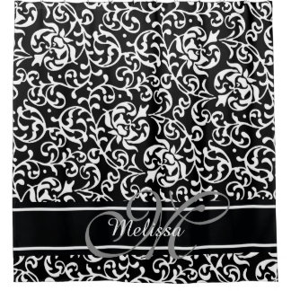 Curtains Ideas black and white damask curtains : Morris Shower Curtains | Zazzle