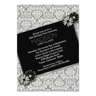 Elegant Damask Party Template Card