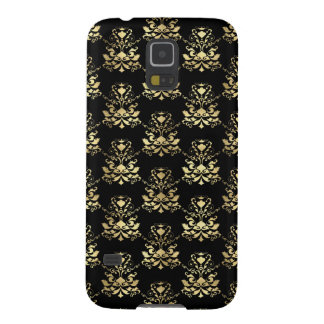 Elegant Damask Pattern Black and Gold Case For Galaxy S5