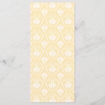 Elegant damask pattern. Light gold color.
