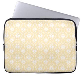 Elegant damask pattern. Light gold color. Computer Sleeve