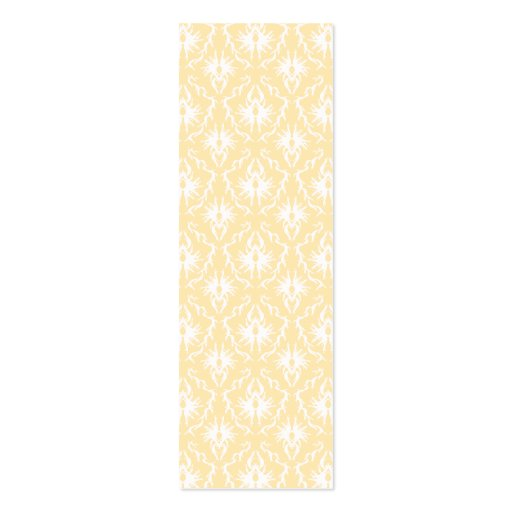 Elegant damask pattern. Light gold color. Double-Sided Mini Business Cards (Pack Of 20)