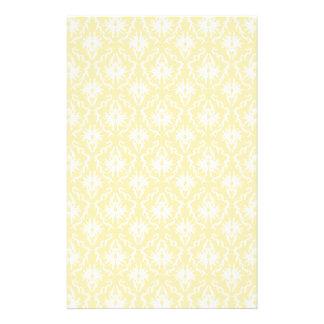 Elegant damask pattern. Light gold color. Flyer
