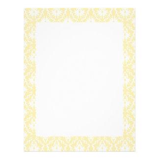 Elegant damask pattern. Light gold color. Letterhead