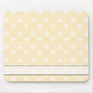 Elegant damask pattern. Light gold color. Mouse Pad