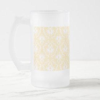 Elegant damask pattern. Light gold color. Coffee Mugs