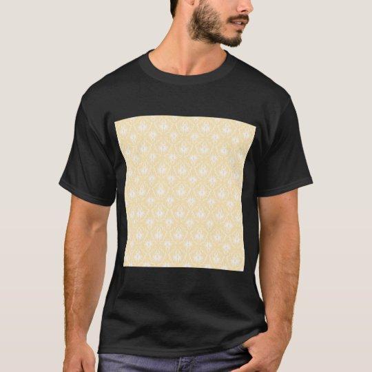 Elegant damask pattern. Light gold color. T-Shirt