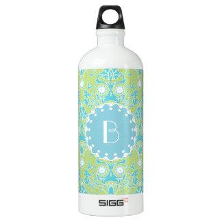 Elegant Damask Pattern with Monogram SIGG Traveler 1.0L Water Bottle