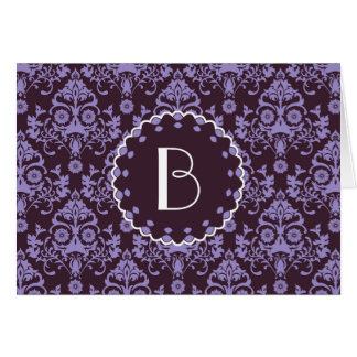 Elegant Damask Pattern with MonogramElegant damask Cards