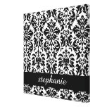 Elegant Damask Patterns with Black and White Canvas Print