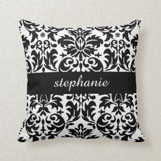 elegant damask patterns with black and white throw pillows - Black And White Decorative Pillows