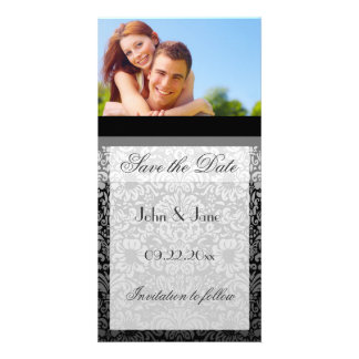 """Elegant Damask/photo  """"Save the Date"""" Picture Card"""