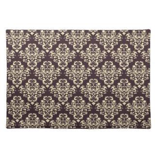 Elegant Damask Cloth Placemat