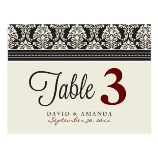 Elegant Damask Reception Table  Table Placards