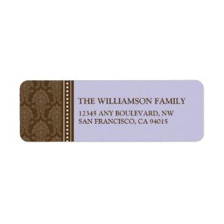 Elegant Damask Return Address Labels (lavender)