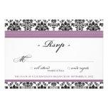 Elegant Damask RSVP Card (lavender) Invite