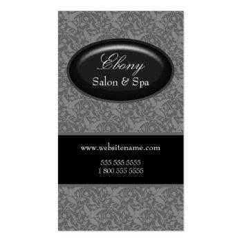 Elegant Damask Salon Gray Business Cards