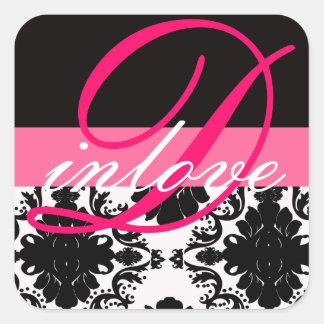 Elegant Damask Stickers