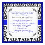 Elegant Damask Swirl Invite [Blue]