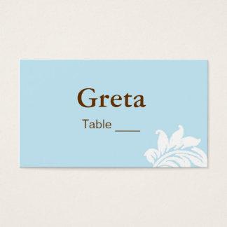 Elegant Damask Table Place Card Holders