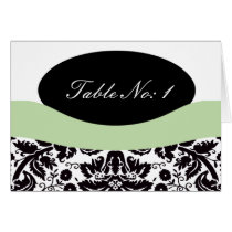 Elegant damask  table seating card