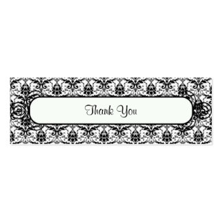 Elegant Damask Thank You Favor Tag Double-Sided Mini Business Cards (Pack Of 20)