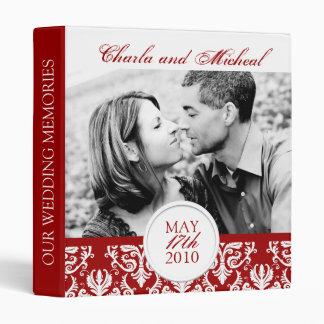 Elegant Damask Wedding Album 3 Ring Binder