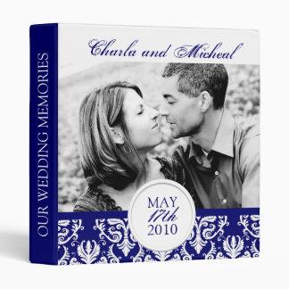 Elegant Damask Wedding Album Binder