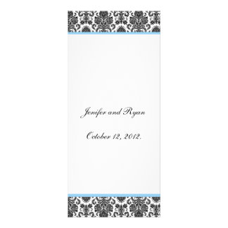 Elegant damask Wedding Menu Rack Card Template