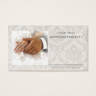 elegant damask wedding planner business business card