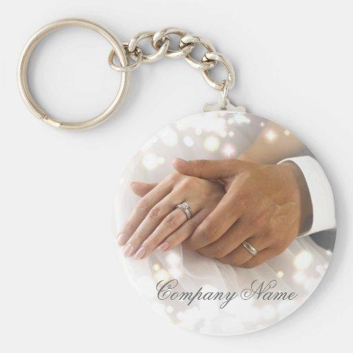 elegant damask wedding planner business key chains